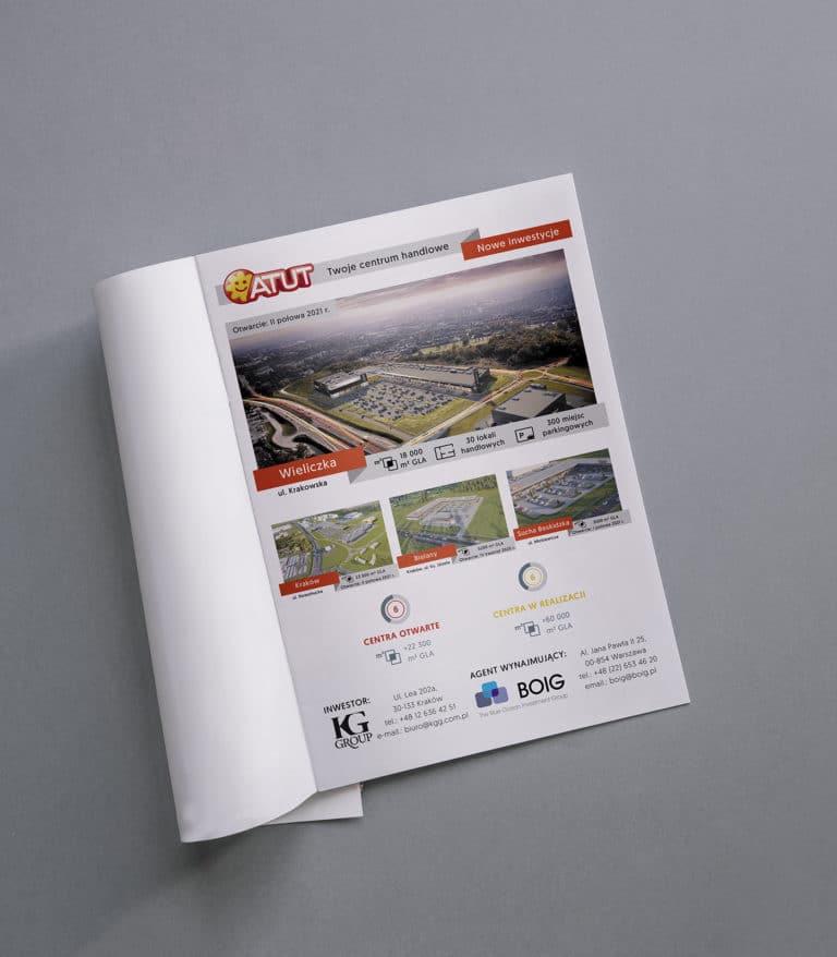 Reklama prasowa centrów handlowych Atut
